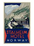 Stalheim Hotel, Norway Print