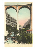 Arched Bridge in Gordes du Loop Posters
