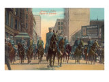 Mounted Police Squad on Parade Posters