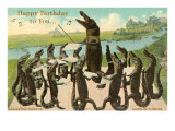 Alligator Chorus Singing Happy Birthday Posters