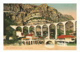 Arched Bridge in les Gorges du Loup Posters