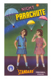 Girls with Night Parachute Fireworks Posters