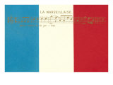 France Song on Flag Posters