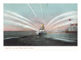 New Yorker Fireboat in Action Print