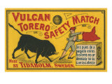Vulcan Safety Matchbox, Torero and Bull Posters