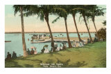 Watching Boat Races, Palm Beach, Florida Poster