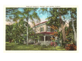 Edison Home, Ft. Myers, Florida Poster
