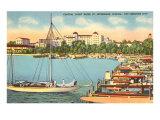 Yacht Basin, St. Petersburg, Florida Poster