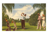 Golfing, Florida Poster