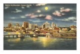 Moon over Tampa, Florida Prints