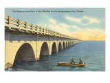 Bridge to Key West, Florida Posters