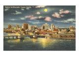 Moon over Tampa, Florida Print