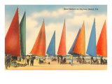 Sand Sailers, Daytona Beach, Florida Poster