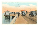 Municipal Pier, St. Petersburg, Florida Print
