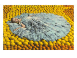 Southern Belle Lying on Oranges, Florida Print