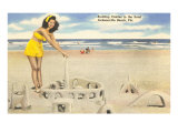 Sandcastle, Jacksonville Beach, Florida Posters