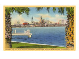 Bridge and City View, Jacksonville, Florida Poster