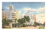Collins Avenue, Miami Beach,  Florida Poster