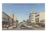 Collins Avenue, Miami Beach, Florida Print