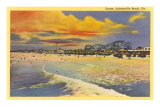Sunset, Jacksonville Beach, Florida Print