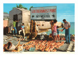 Buying Conch Shells in Key West Kunstdruck