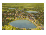 Aerial View of Lakeland, Florida Posters