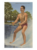 Barefoot Water Skier, Florida Posters
