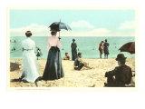 Strandbild von früher, Palm Beach, Florida Poster
