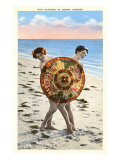 Ladies Behind Parasol, Florida Poster