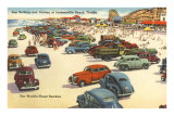 Cars on Beach, Jacksonville, Florida Photo