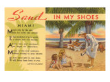 Sand in My Shoes, Poem, Florida Poster
