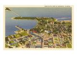 Aerial View of Sarasota, Florida Kunstdruck