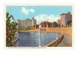 Stadtzentrum, Lakeland, Florida Kunstdruck
