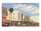 Beach Street, Daytona Beach, Florida Print