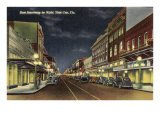 Night, Ybor City, Florida Posters