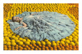 Southern Belle Lying on Oranges, Florida Posters