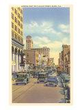 Flagler Street, Miami, Florida Posters