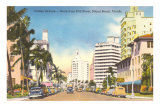 Collins Avenue, Miami Beach, Florida Posters