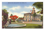 Merrick Park, City Hall, Coral Gables, Florida Posters