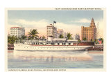 Yacht Anchorage, Miami, Florida Posters