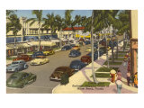 Lincoln Road, Miami Beach, Florida Print