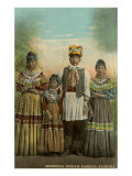 Seminole Indian Family, Florida Print