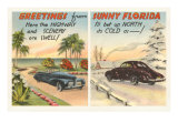 Motoring in Florida Versus the North Posters