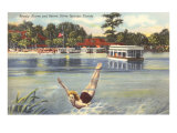 Lady Swimmer, Silver Springs, Florida Posters