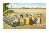 Ladies on Beach, Florida Poster