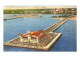 Municipal Pier, St. Petersburg, Florida Posters