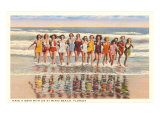 Ladies in Surf, Miami Beach, Florida Kunstdruck