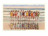 Ladies in Surf, Miami Beach, Florida Kunstdruck