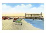 Cars on Beach, Daytona Beach, Florida Posters