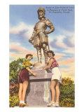 Ponce de Leon Statue, St. Augustine, Florida Print